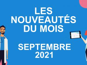 Les nouveautés du mois – septembre 2021