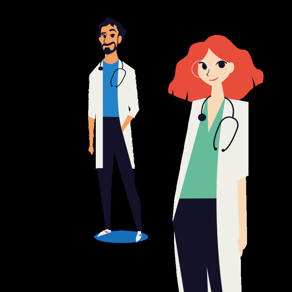 julien médecin généraliste et Aurélie médecin spécialiste